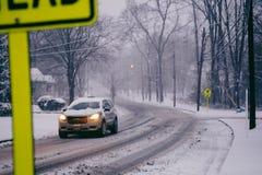 SnowyStreet Imagen de archivo libre de regalías