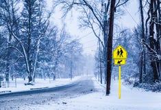 SnowyStreet Fotografía de archivo