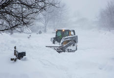 Snowzilla 2016 araduras da neve do blizzard Imagem de Stock Royalty Free