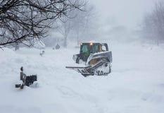 Snowzilla 2016 Blizzard Snow Plowing Virginia Royalty Free Stock Image