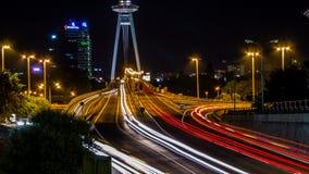 SNP-Brücke nachts Stockfotografie