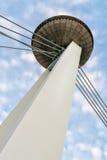 SNP bridge in Bratislava, Slovakia stock photo