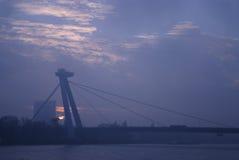 SNP bridge sunset 1 Royalty Free Stock Photo