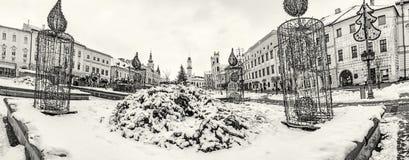 SNP kwadrat w Banska Bystrica, Sistani, bezbarwny Obrazy Royalty Free