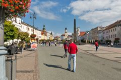 SNP square in Banska Bystrica, Slovakia. Royalty Free Stock Photos