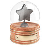 Snow globe with silver star Stock Images
