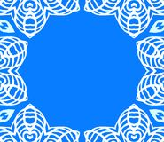 Snör åt den geometriska art décoramen för vektorn med vit Fotografering för Bildbyråer