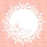 Snöra åt ramen med liljan skissar Arkivfoto
