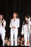 SNSD-Band am Festival menschliche Kultur EquilibriumConcert Korea in Vietnam lizenzfreie stockfotos