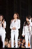 SNSD band at the Human Culture EquilibriumConcert Korea Festival in Viet Nam. Ho Chi Minh City, VietNam - March 22: SNSD, Girls' Generation band dance and sing royalty free stock photos