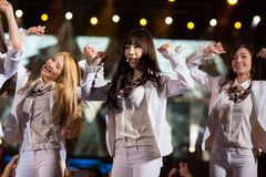 SNSD band at the Human Culture EquilibriumConcert Korea Festival in Viet Nam Royalty Free Stock Photo