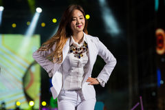 SNSD band at the Human Culture EquilibriumConcert Korea Festival in Viet Nam. Ho Chi Minh City, VietNam - March 22:Yuri , (SNSD, Girls' Generation band) dance stock images