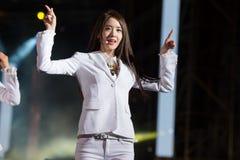 SNSD zespół przy Ludzkiej kultury EquilibriumConcert Korea festiwalem w Wietnam Zdjęcia Royalty Free