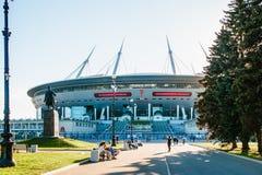 Snt Πετρούπολη, Ρωσία - 18 05 2018, Παγκόσμιο Κύπελλο 2018 γηπέδου ποδοσφαίρου χώρων αποκορυφώματος Gazprom στοκ φωτογραφίες