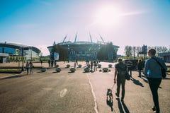 Snt Петербург, Россия - 18 05 2018, кубок мира 2018 футбольного стадиона арены зенита Газпрома стоковые изображения