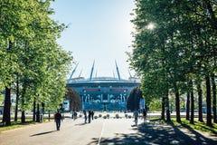 Snt Petersburg, Rosja - 18 05 2018, Gazprom areny stadionu futbolowego Zenitowy puchar świata 2018 Obraz Stock