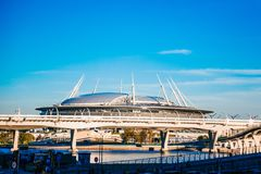 Snt Petersburg, Rosja - 18 05 2018, Gazprom areny stadionu futbolowego Zenitowy puchar świata 2018 Obrazy Stock