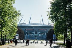 Snt. Petersburg, Russia - 18.05.2018, Gazprom Zenith arena football stadium world Cup 2018 Royalty Free Stock Images