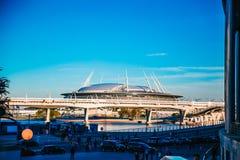 Snt Petersburgo, Rússia - 18 05 2018, campeonato do mundo 2018 do estádio de futebol da arena do zênite de Gazprom fotos de stock royalty free