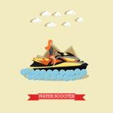 Snubbla till Egypten, illustration för lägenhet för vektor för vattensparkcykelbegrepp royaltyfri illustrationer