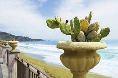 Snubbla till Europa, horisontalfotoet av havet och den Sicilian lanscapen Royaltyfri Foto