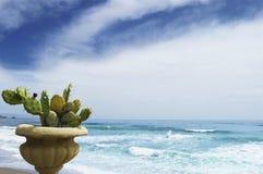 Snubbla till Europa, horisontalfotoet av havet och den Sicilian lanscapen Arkivbild
