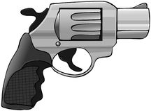 Snubnose pistol. This illustration depicts a small snubnose revolver Royalty Free Stock Image