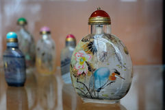 Snuff bottles with inner painting,China stock photography