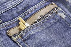 Snuff in jeans Royalty Free Stock Images