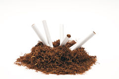 Snuff pipe and cigarettes Royalty Free Stock Photos