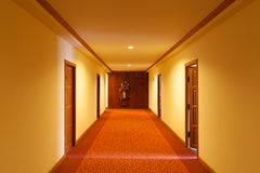 A snug corridor in the hotel Stock Image