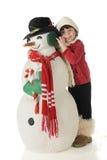Snuggle do boneco de neve imagem de stock royalty free