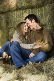 Snuggling couple. royalty free stock photo