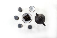 snuifjekop met zwarte gaivan thee, Royalty-vrije Stock Foto's