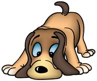 Snuivende Hond Royalty-vrije Stock Afbeeldingen