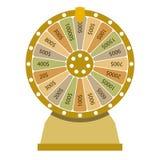 Snurrhjul av förmögenhet Plan stil Royaltyfria Foton