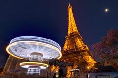 Snurrkarusell Eiffel Arkivbild