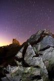 snuten mejar stjärnatrails Royaltyfria Bilder