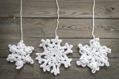 Snwoflakes Crocheted imagen de archivo libre de regalías