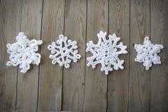 Snwoflakes Crocheted imágenes de archivo libres de regalías