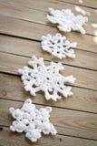Snwoflakes Crocheted foto de archivo libre de regalías