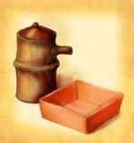 Soße für die zwei der Sojasoße stockbilder