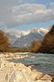 The Soča River. Bovec, Slovenia Stock Photo