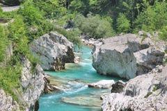  a SoÄ реки на ущелье Tolmin, Словении Стоковое Изображение RF
