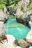  a SoÄ реки на Velika Korita, Словении Стоковое Фото
