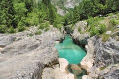  a SoÄ реки на Velika Korita, Словении Стоковые Изображения RF