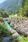  a SoÄ реки на Velika Korita, Словении Стоковое Изображение RF