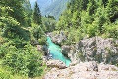  a SoÄ реки на Velika Korita, Словении Стоковая Фотография