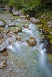 SoÄ  een Rivier in Slovenija Stock Foto