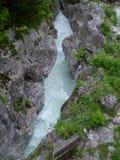 SoÄa Fluss, Slowenien Lizenzfreies Stockfoto